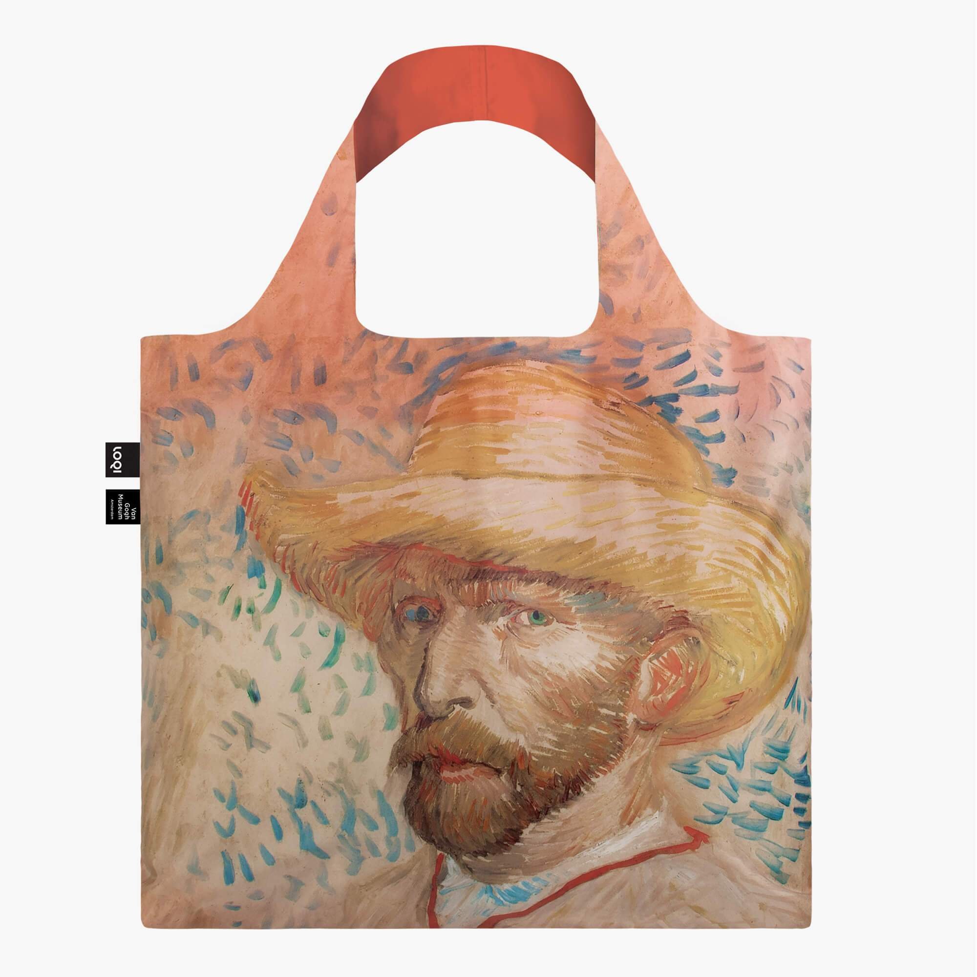 LOQI Vincent van Gogh Self Portrait with Straw Hat Bag Front