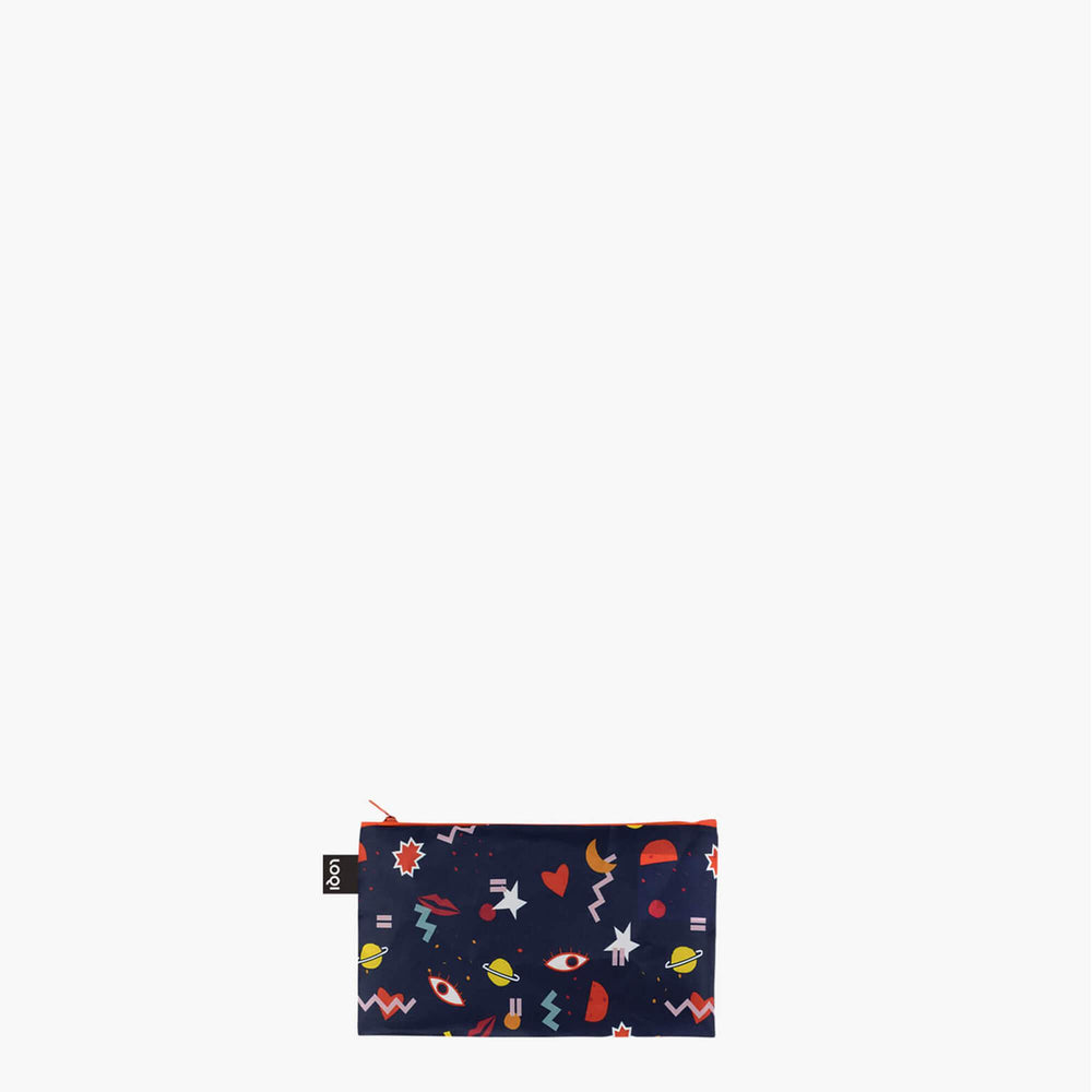 LOQI Céleste Wallaert Grlz Band, Night Night, Joyful and Free Zip Pockets Mini