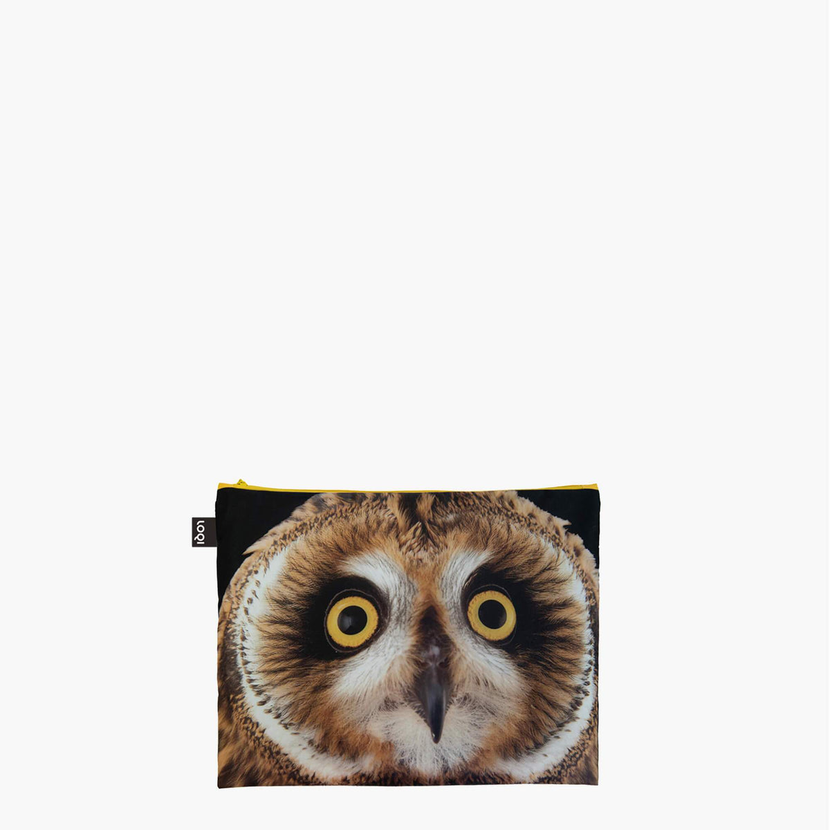 LOQI National Geographic Photo Ark Owl, Butterflies, Penguins Zip Pockets Maxi