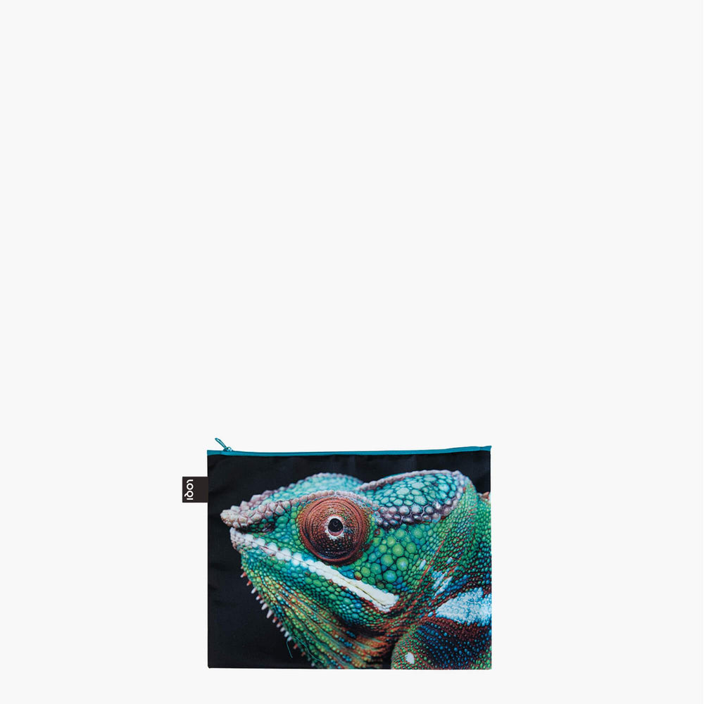 LOQI National Geographic Photo Ark Tiger, Chameleon, Flamingos Zip Pockets Midi