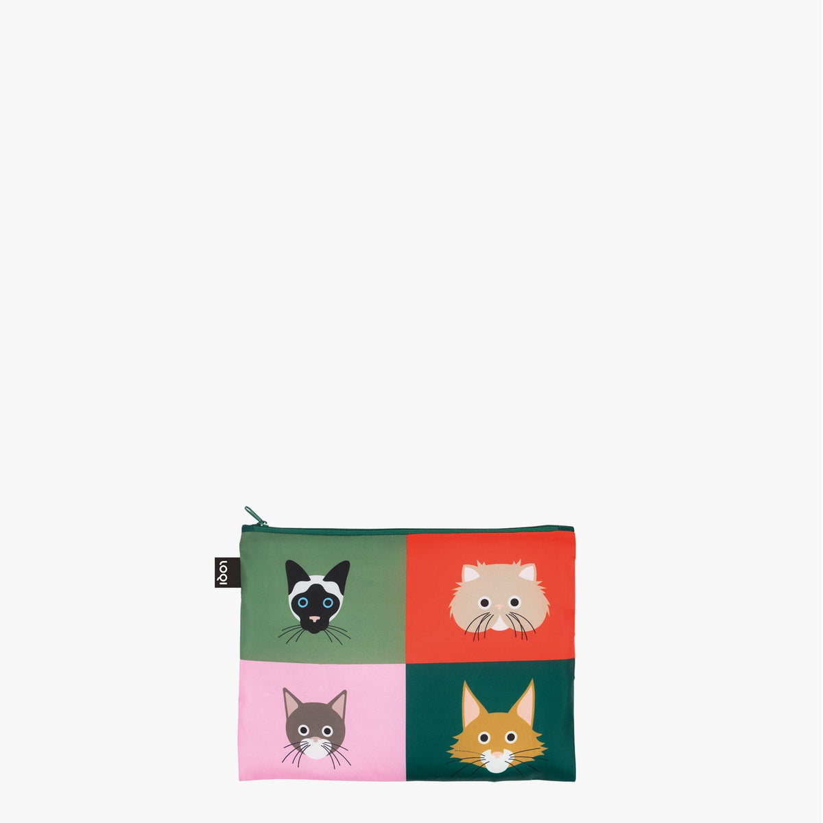 LOQI Stephen Cheetham Cats & Dogs Zip Pockets Midi