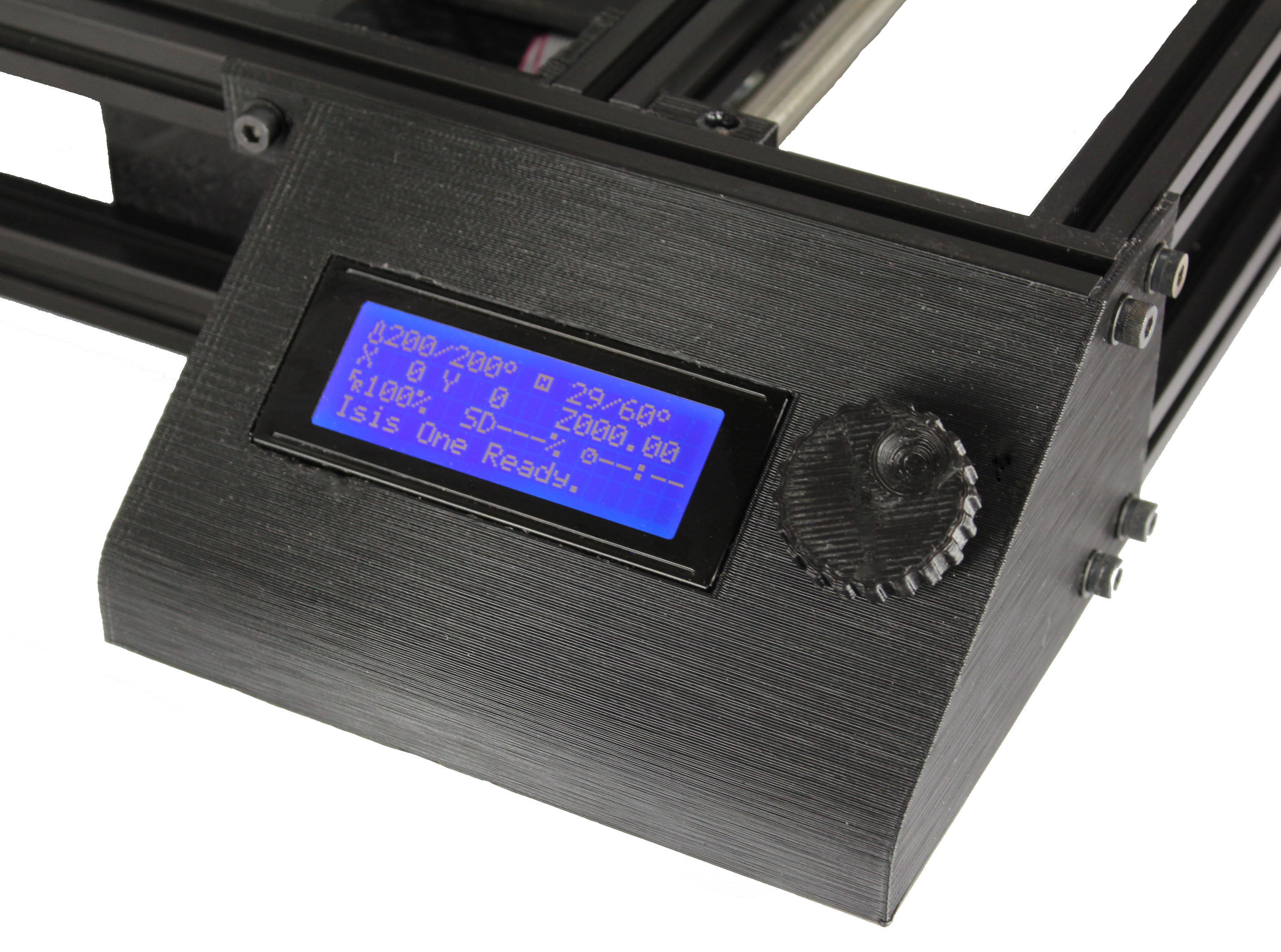 The Isis One's LCD Smart Controller allows you to print without a computer.