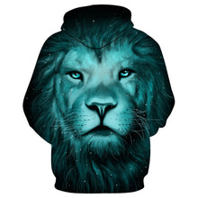 Load image into Gallery viewer, 3D Lion Galaxy Print Pullover Mens Hoodie-Don Dapper Store