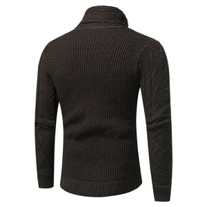 Cowl Neck Horn Button Single Breasted Cardigan-Don Dapper Store