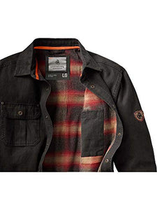 Whitetails Men's Journeyman Flannel Lined Rugged Shirt 3 -day shipping (USA)-Don Dapper Store