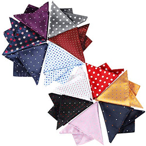 Dapper Pocket Squares For Men Assorted 12 Pack-Don Dapper Store