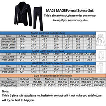 Load image into Gallery viewer, MAGE MALE Men's 3 Pieces Suit Elegant Solid One Button Slim Fit Single Breasted Party Blazer Vest Pants Set-Don Dapper Store