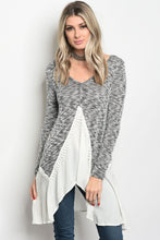 Load image into Gallery viewer, Ladies fashion long sleeve knit top that features a v neckline-Don Dapper Store