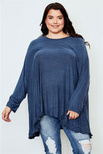 Load image into Gallery viewer, Ladies fashion plus size frill hem loose tunic top Pretty little thing-Don Dapper Store