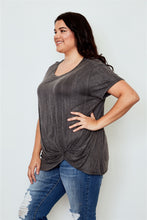 Load image into Gallery viewer, Ladies fashion plus size knotted front tee Pretty little thing-Don Dapper Store