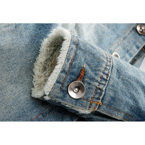 Fur-Collared Urban Denim Jacket-Don Dapper