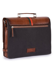 Leather and Canvas Laptop Bag