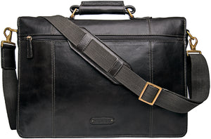 Dapper Large Leather Briefcase