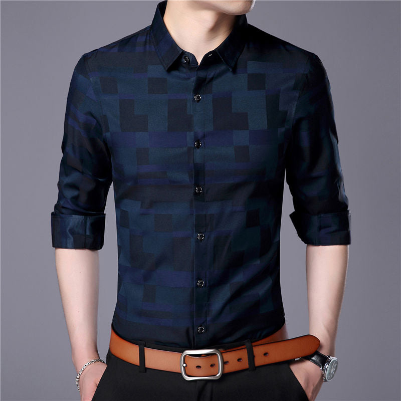 Classy Square Fitted Casual Dress shirt-Don Dapper