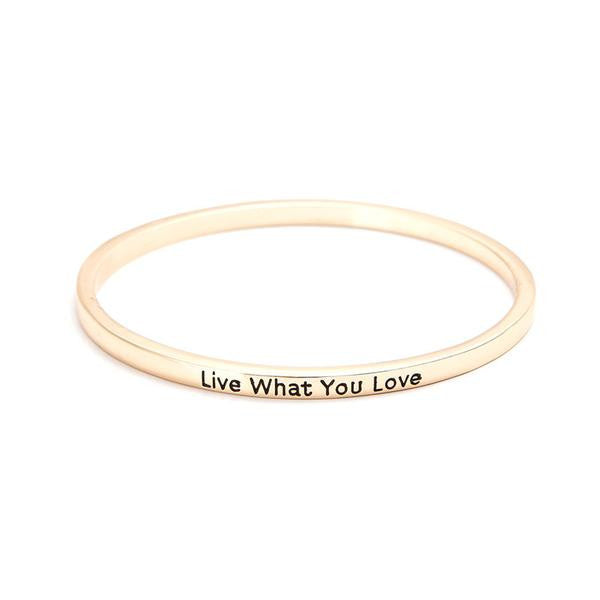 Live What You Love Bangle Bracelet-Don Dapper Store