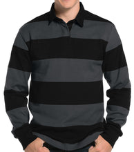 Load image into Gallery viewer, Mens Premium Long Sleeve Rugby Polo Shirt-Don Dapper Store