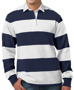 Mens Premium Long Sleeve Rugby Polo Shirt-Don Dapper Store