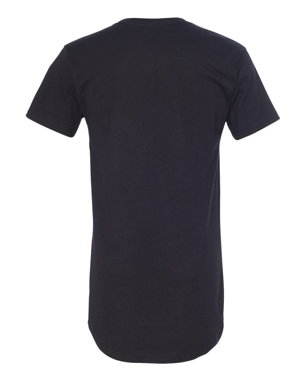 Men's Extra Long Urban Tee Shirt - Black-Don Dapper Store