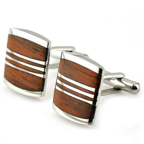 Classic wood Cufflink-Don Dapper Store