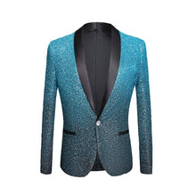 Load image into Gallery viewer, Mens Shiny Powder Gold Silver Pink Champagne Blue Black Slim Fit Blazer-Don Dapper Store