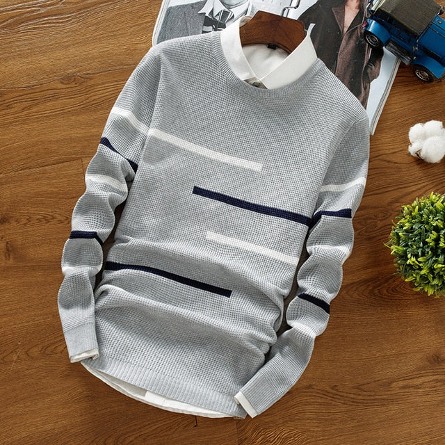 Urban Grayscale Knitted Sweater-Don Dapper