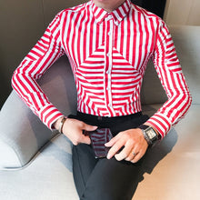Load image into Gallery viewer, Urban Square Striped Dress Shirt-Don Dapper