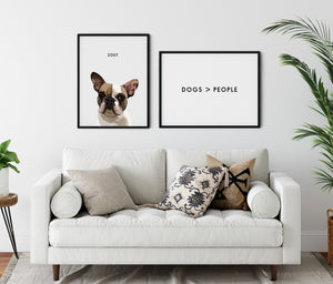 Custom Two-Pet Portraits (Poster Only)