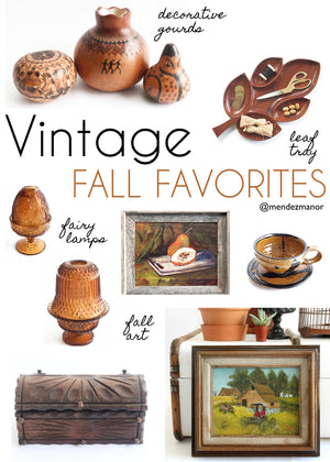 Vintage Home Decor: Fall Favorites From The Shop