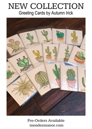 New Collection Sneak Peek: Cactus Greeting Cards by Autumn Irick