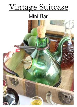 Vintage Suitcase Mini Bar