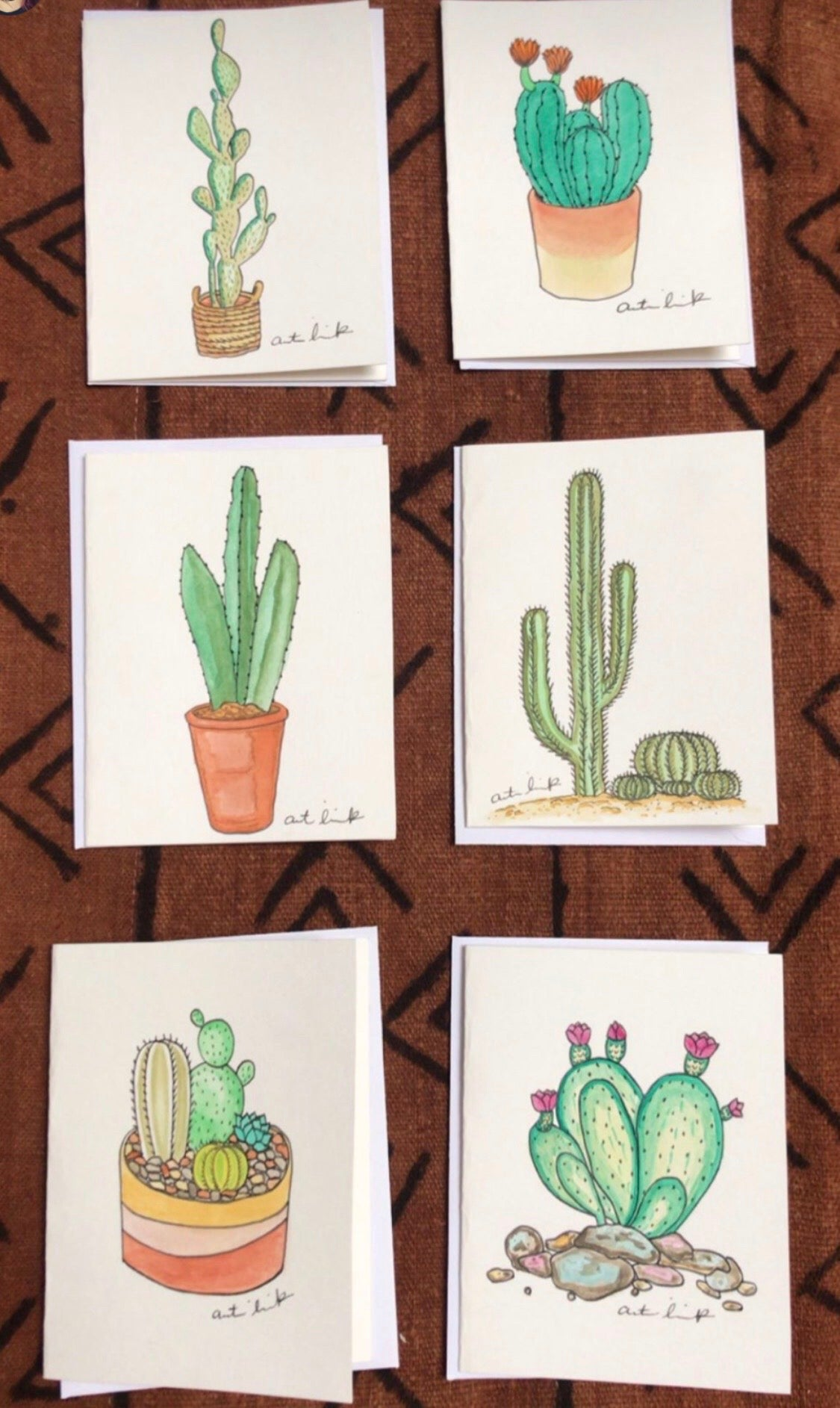 cactus greeting cards via Mendez Manor