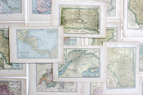 upcycled atlas maps