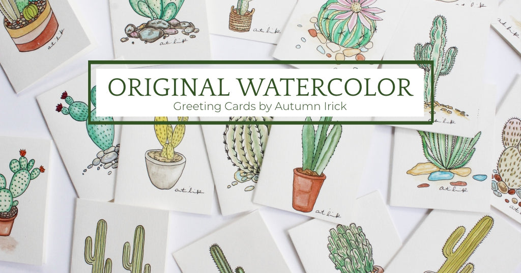 original watercolor greeting cards
