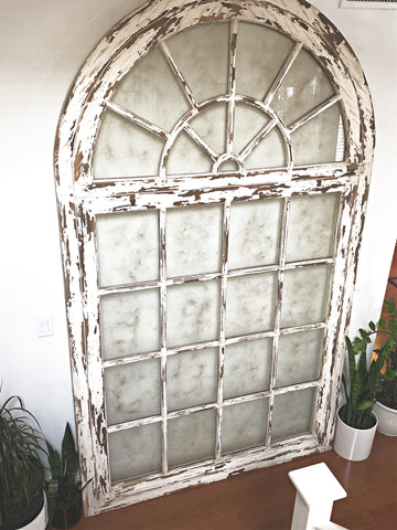 oversized vintage arch window