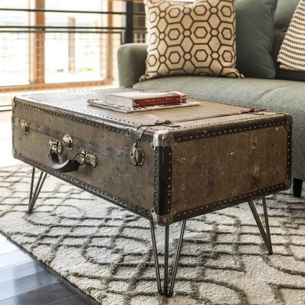 how to style vintage trunks