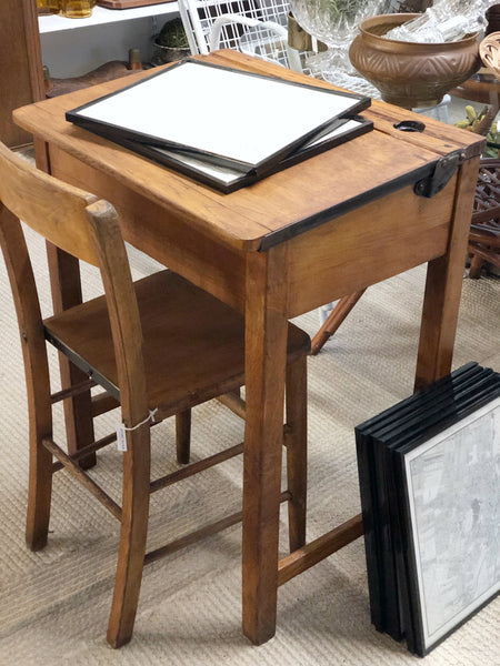 how to refinish a vintage school desk