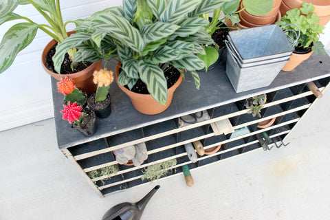 how to repurpose vintage metal cubbies