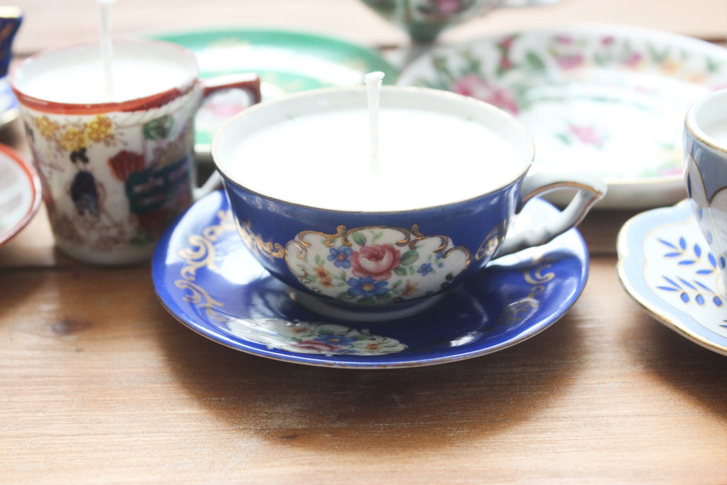 vintage teacup candles via Mendez Manor