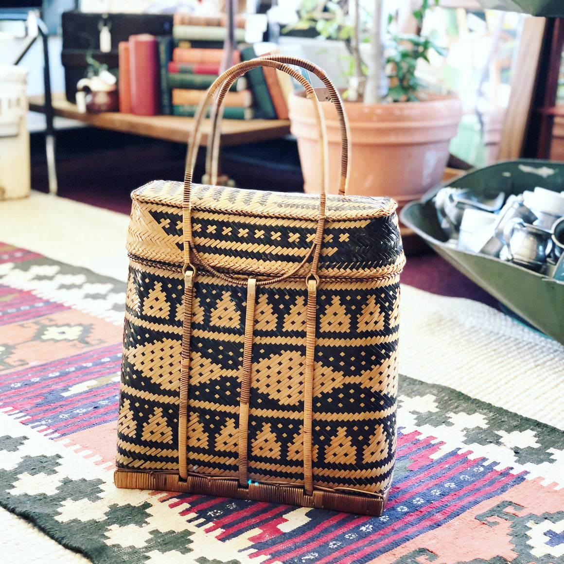 Vintage Woven Handbag, Reserved for @hush.lil.bbs