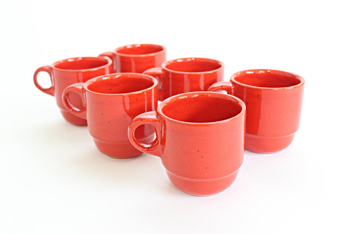 orange kitchen coffee mugs sustainable home