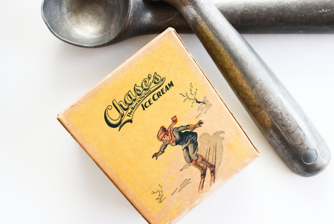 Vintage Ice Cream Carton, Nostalgic Kitchen Decor