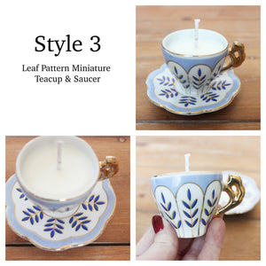 Vintage Teacup Candles, Lavender & Rosemary Soy Candles