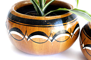 Hand Painted Indoor Planters, Mexican Ceramic Planters