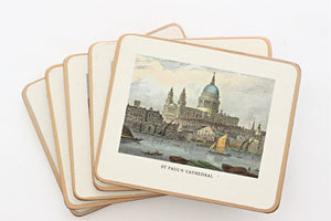 Vintage English Souvenir Coasters