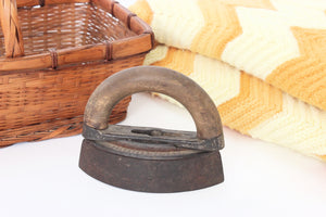 Antique Sad Iron, Vintage Laundry Room Decor, Rustic Home Decor