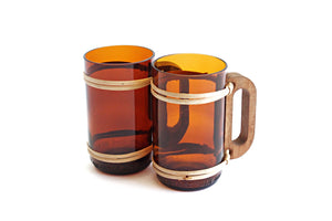 Hand crafted Beer Mugs, Repurposed Wine Bottle Beer Mugs