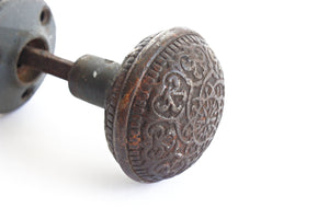 Antique Bronze Door Knobs, Victorian Style Door Knob Set