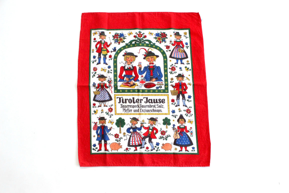 Bavarian Tea Towel, Country Cottage Kitchen Decor