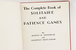 "Vintage Book on Solitaire, ""The Complete Book of Solitaire and Patience Games"""