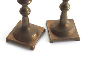 eco-friendly home decor vintage brass candlestick holders